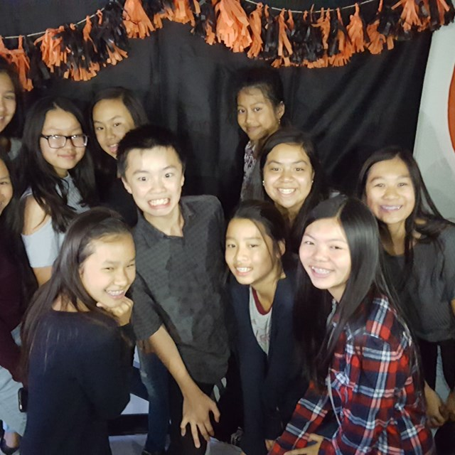 Smiles are all around at the Halloween dance!