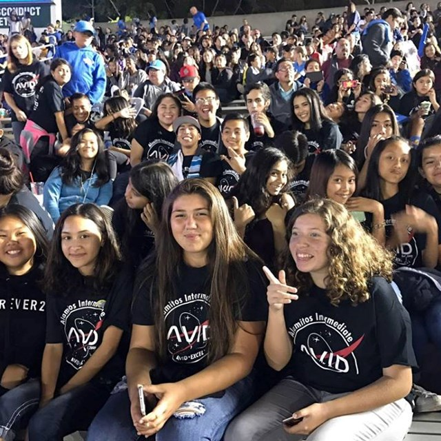 Alamitos AVID students join other AVID students in an engaging and informative event.