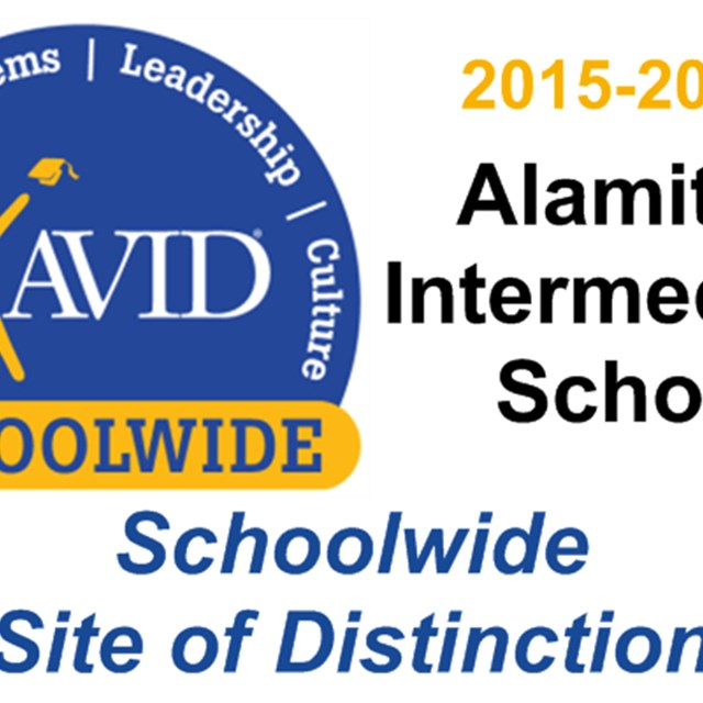 Alamitos Intermediate was named a 2015-2016 AVID Schoolwide Site of Distinction!