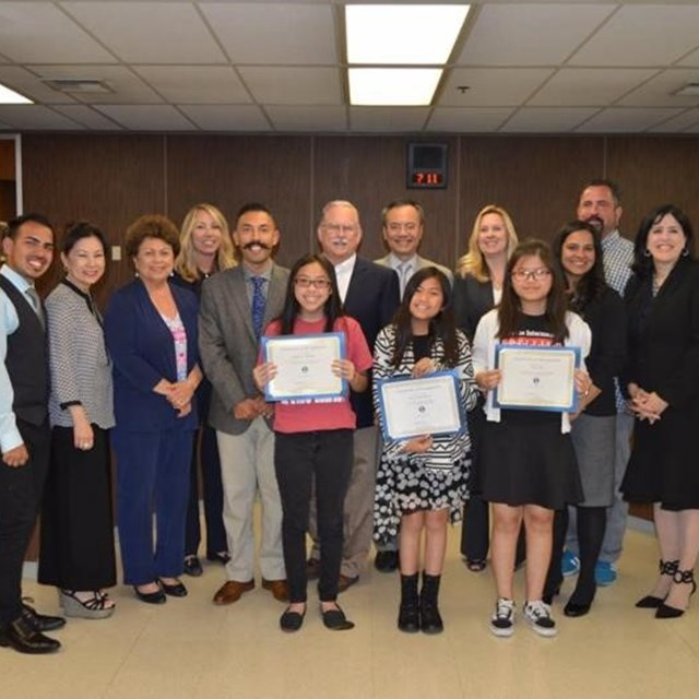 The Spelling Bee board meeting accolades our triumphant champions for the 2017-2018 school year.