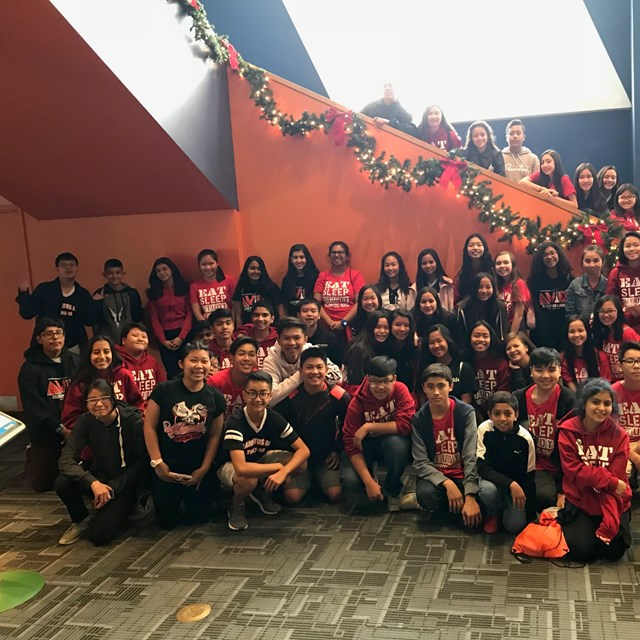 Scholars and staff celebrate the holidays with positive vibes!