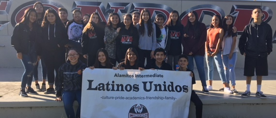 Our Latinos Unidos committee gathers for a new school year full of successful endeavors and growth.